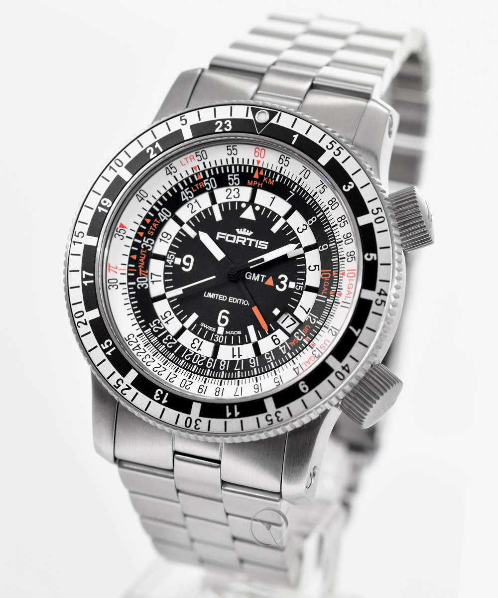 Fortis B-47 Calculator GMT 3 timezones - limited Edition no. 2012 from 2012