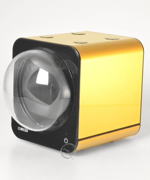 Watch Winder Boxy Fancy Brick -Gold- AC adapter!