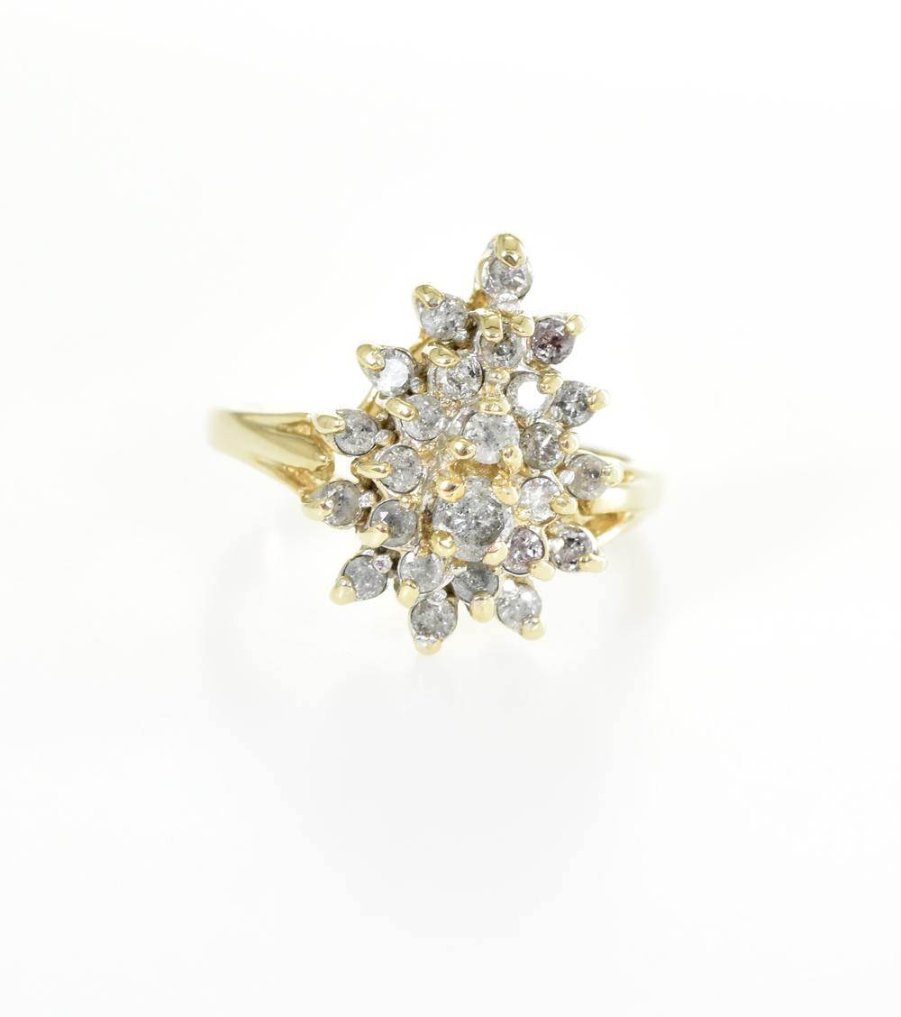 Brilliant ring in yellow gold