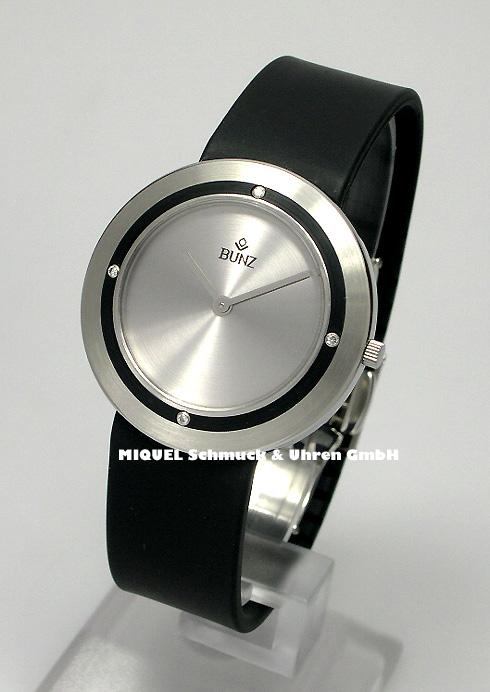 Bunz Designtime Armbanduhr in Mediumgröße