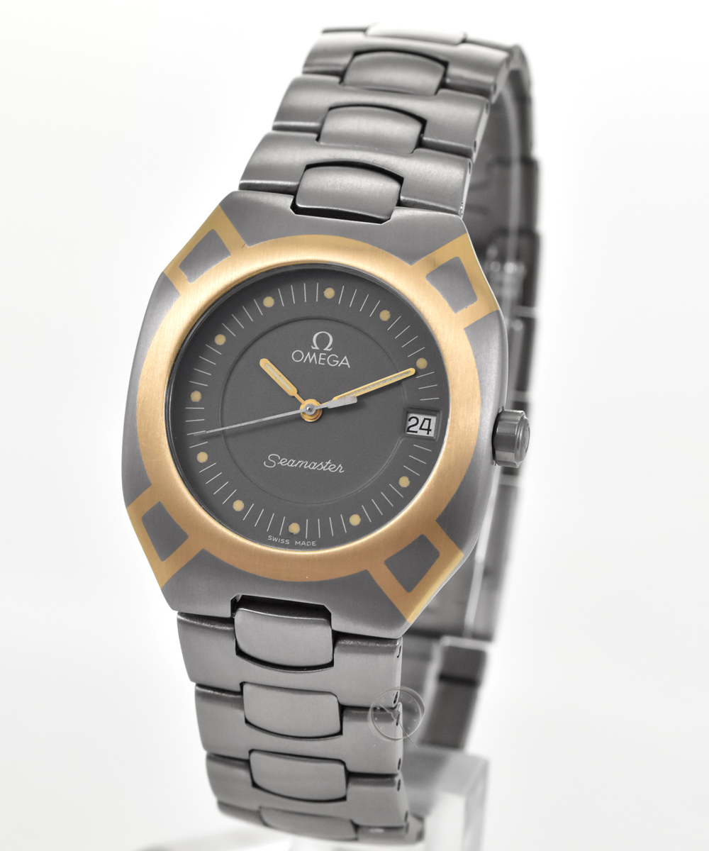 Omega Seamaster titanium with gold marquetry