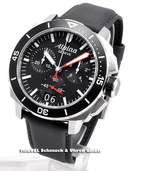 Alpina Seastrong Diver 300 Chronograph Big Date - 44,7% saved ! *