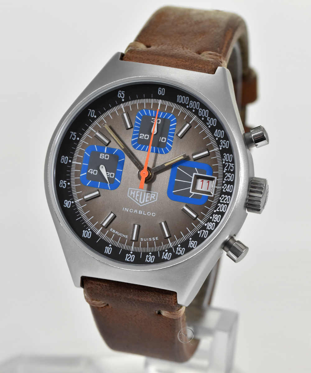 Heuer Chronograph - Very rare in this design!