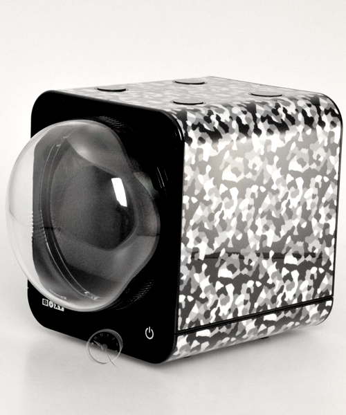 Watch Winder Boxy Fancy Brick - camouflage - AC adapter!