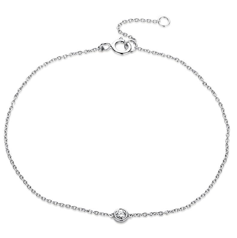 Bracelet frame 18 kt white gold