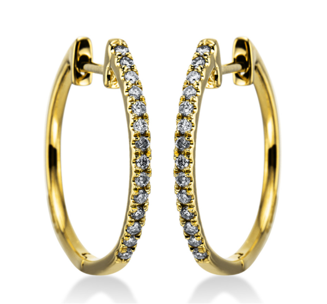 Creoles 18 ct  yellow gold