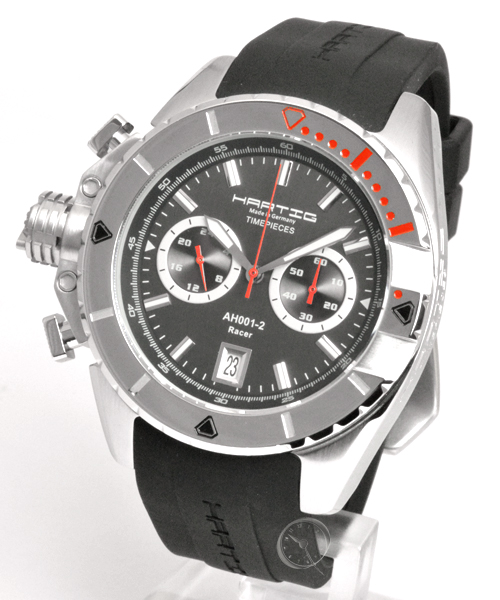 Hartig Racer red quarz chronograph - Caution: 25,1% saved! *
