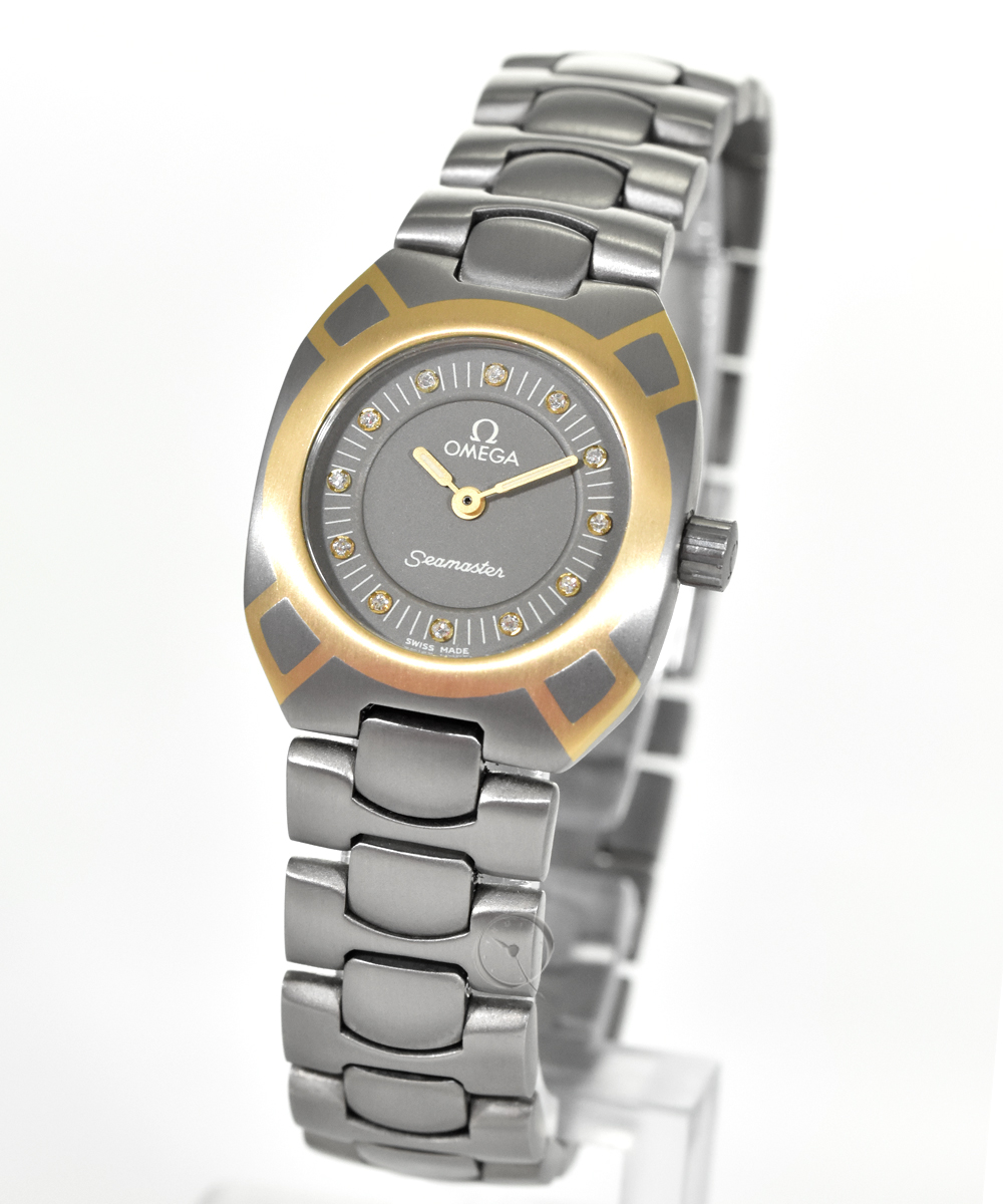 Omega Seamaster lady  titanium with gold marquetry