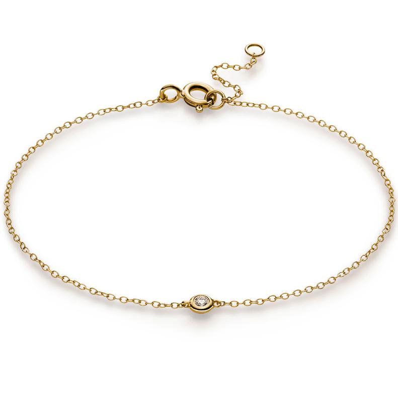 Bracelet frame 18 kt yellow gold