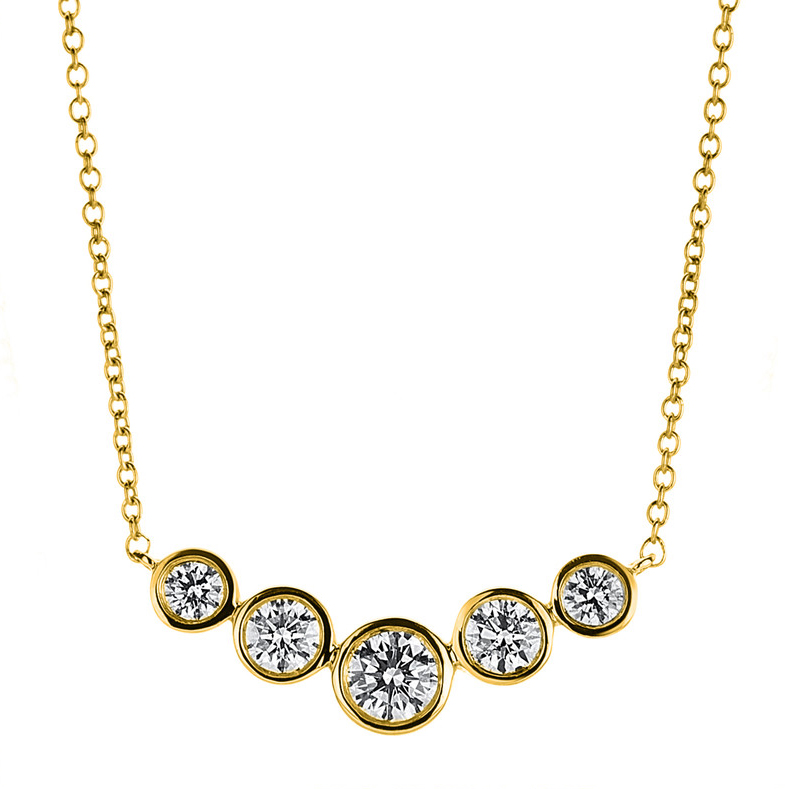 Necklace frame 18 kt yellow gold