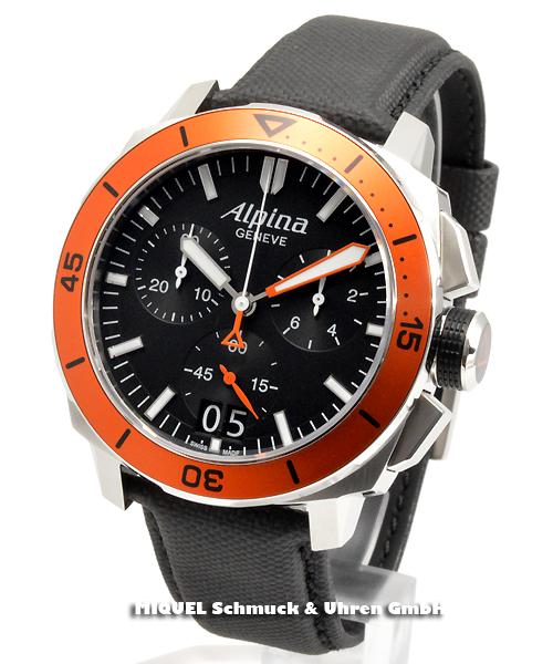 Alpina Seastrong Diver 300 Chronograph Big Date - 34,7 % saved ! *