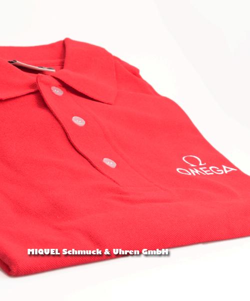 Omega Poloshirt Herren rot