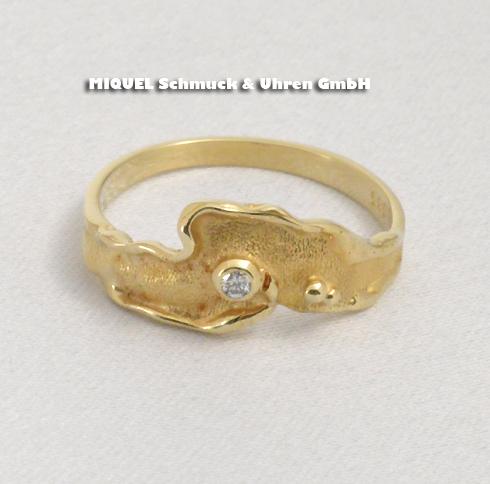 Damen Ring in yellow gold 14 ct
