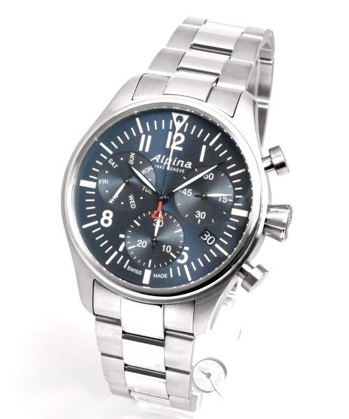 Alpina Startimer Pilot Quartz Chronograph - 37,2% saved! *
