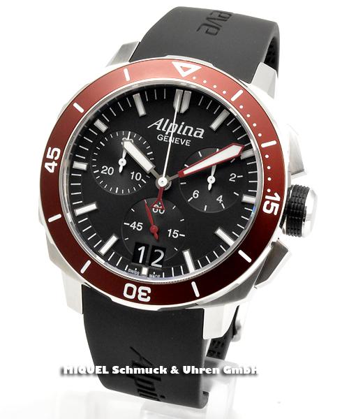 Alpina Seastrong Diver 300 Chronograph Big Date - 44,7 % saved ! *