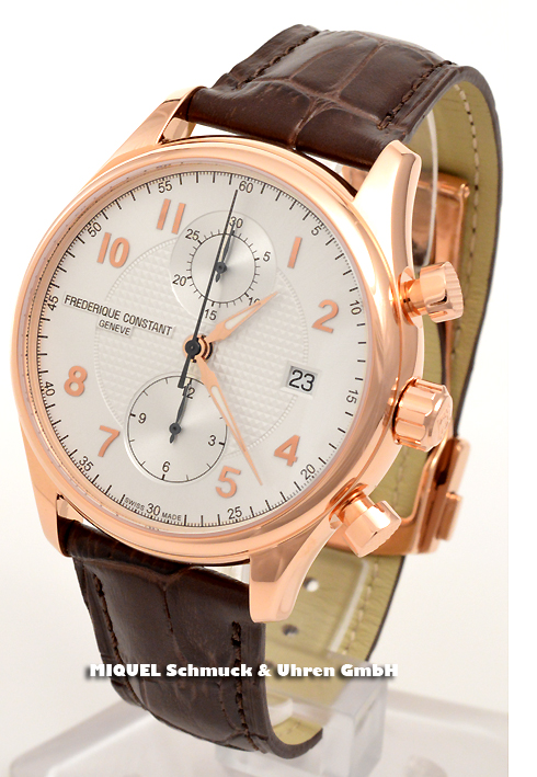 Frederique Constant Runabout Chronograph - limited - 39,2% saved ! *