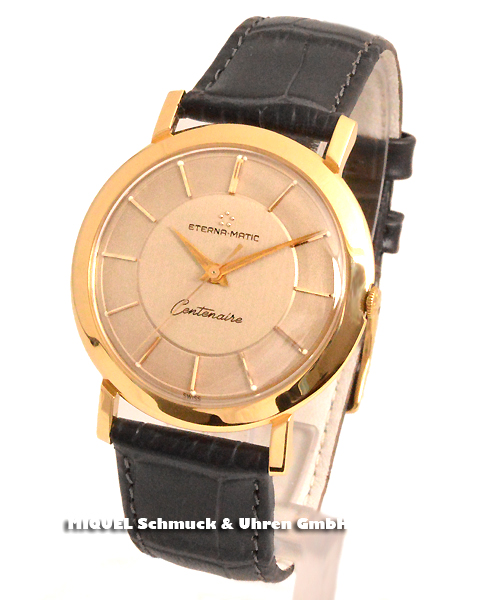 Eterna Matic Centenaire 750/000 Gold - Very rarely offered watch