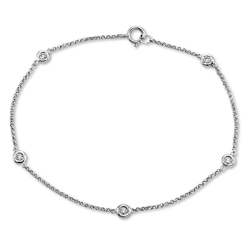 Bracelet 18 kt white gold