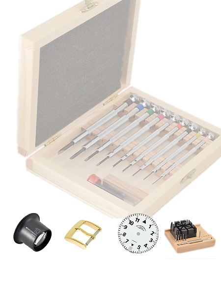 Watches spare parts + tools